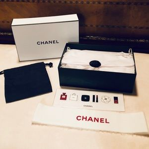 CHANEL Other - CHANEL BOX w WHITE Ribbon GIFT Card & Pouch NEW